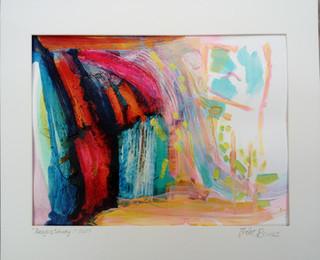 Lesvos Study 2017 acrylic on canvas paper 28x20cms