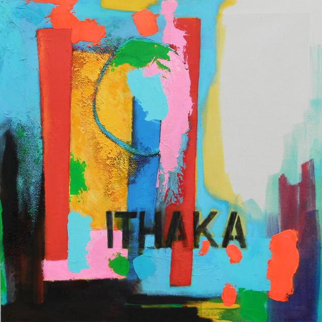 Ithaka 2014 acrylic on canvas 90x90cms