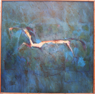 Cavallo  2012  oil  on canvas 120x120cms