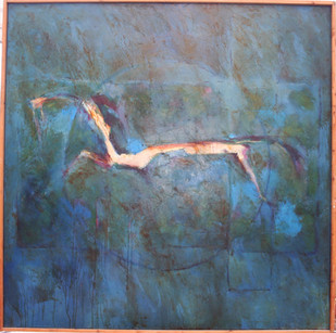 Cavallo  2012  oil  on canvas 120x120cms
