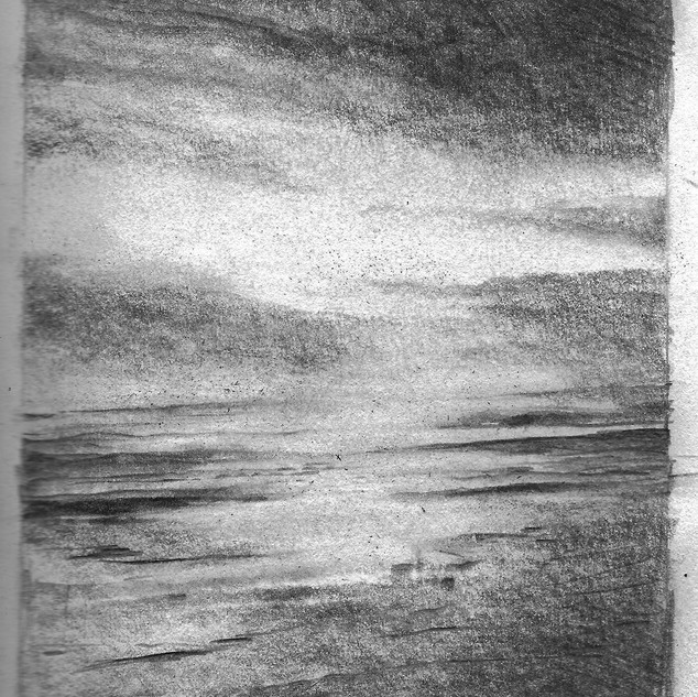 """No Line On the Horizon"" drawing"