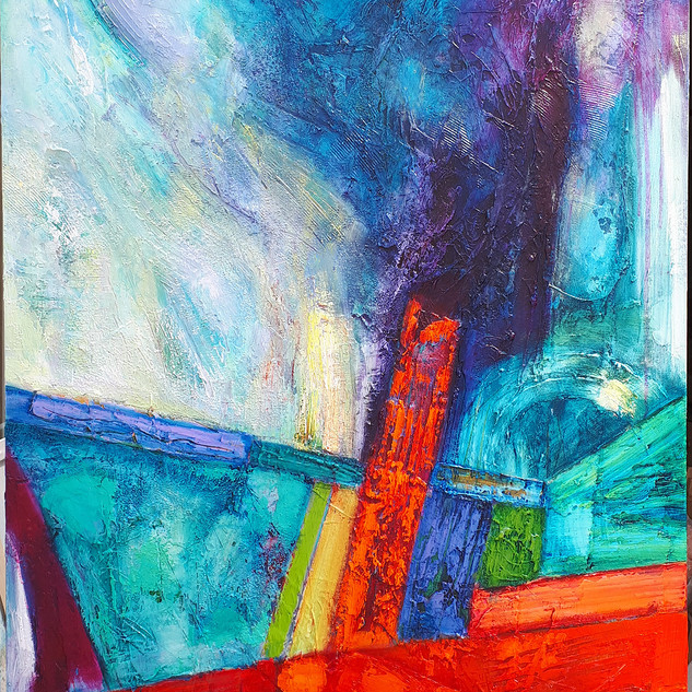 Saeta 77x102cms acrylic on canvas