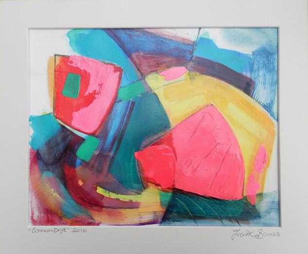 Winrow Drift  2016 acrylic on canvas paper 25x20cmscms