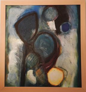 Ogma  2014 oil on canvas 90x90cms