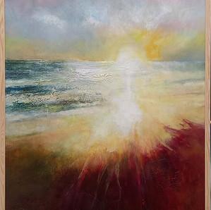 Into The Mystic acrylic on canvas 72 x 102 cms framed.