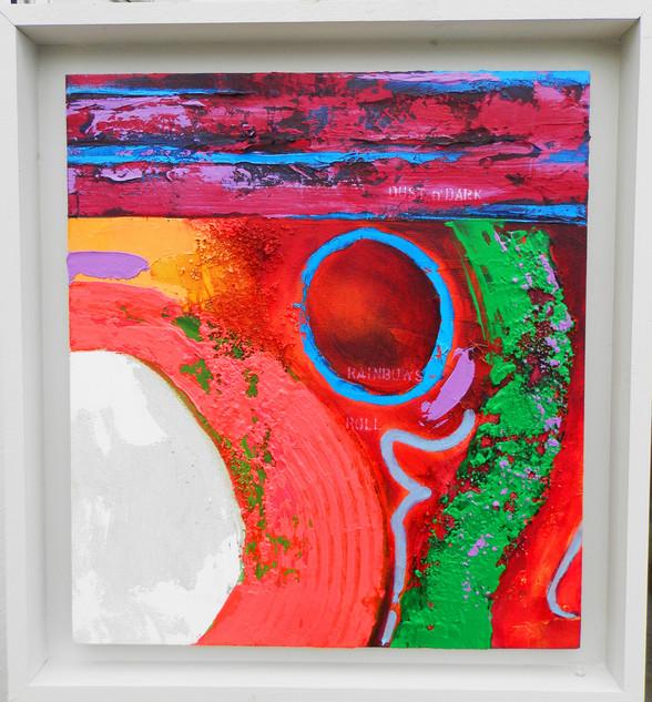 Rainbows Roll 2015 acrylic on canvas 60x55cms
