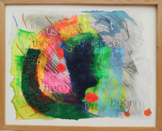 In Dust To Rest 2015  Acrylic, dye, graphite and collage on paper