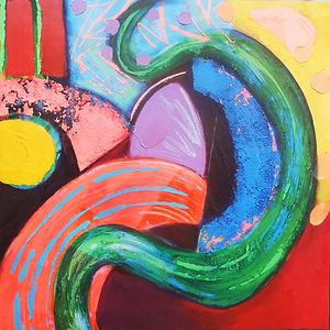 Siena Fields acrylic on canvas 75x75cms