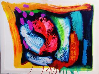 FIERY TRACE 2017 acrylic on canvas 102x77cms