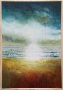 No Line On The Horizon acrylic on canvas 72 x 102 cms
