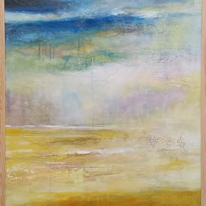 Still Rainin' Still Dreamin' in frame 72x102 cms acrylic on canvas