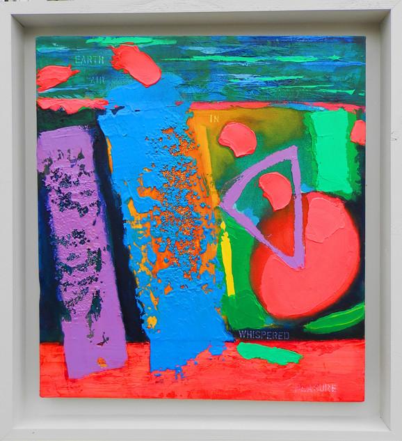 Whispered Measure 2015 acrylic on canvas 60x55cms