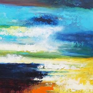 Bright Morning Star 102x76cms acrylic on canvas