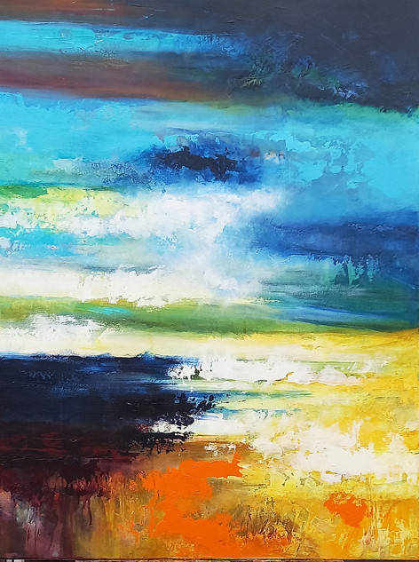 Bright Morning Star 102x76cms acrylic on canvas