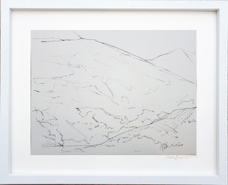 Buttermere Drawing 3  2018 ink on paper 40x30cms