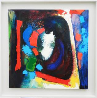 Ellaguroo 2014 acrylic on canvas 75x75cms