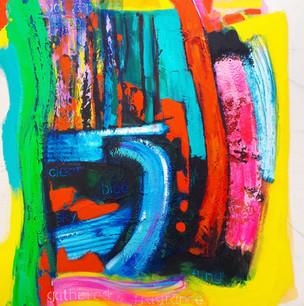 Fling 2018 acrylic on canvas 75x75cms