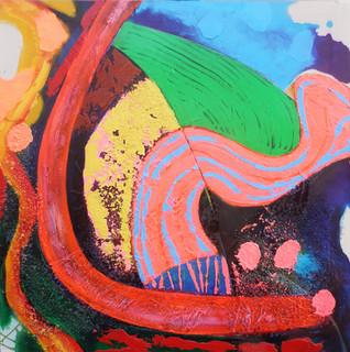 Tuscan Fields 2   75x75cms acrylic on canvas