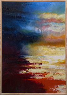 """"""" Moon, Turn The Tides, Gently, Gently Away"""" 72x102cms acrylic on canvas"""