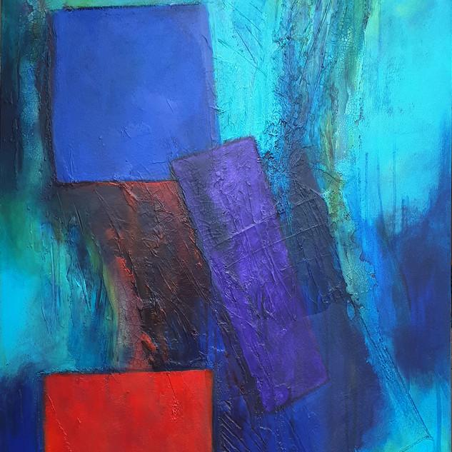 """Invisible Landscape 2""  76cmsx 102cms acrylic on canvas"