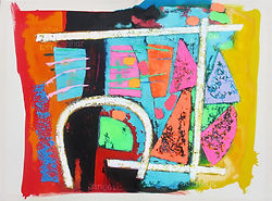 Market  114x85 cms acrylic on canvas Sep