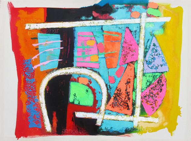 Market  2016 114x85 cms acrylic on canvas