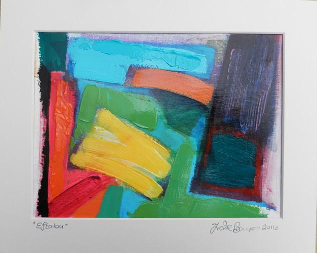 Eftalou 2016 acrylic on canvas paper  25x20cms