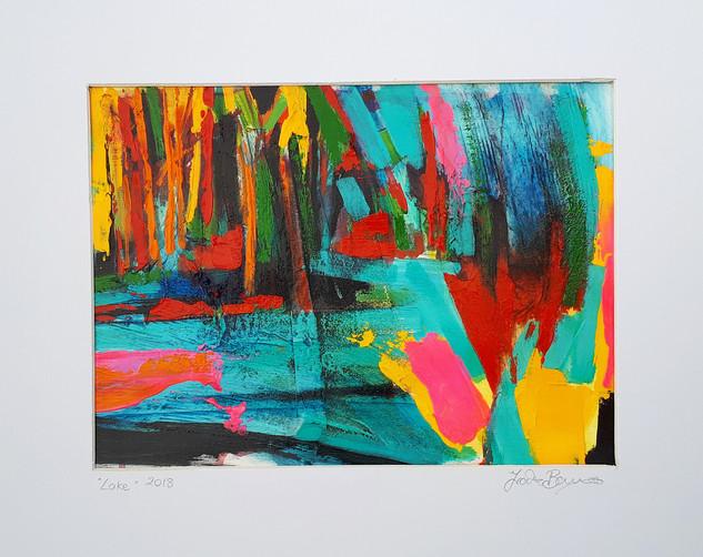 LAKE 2018 acrylic on canvas paper 28x20cms