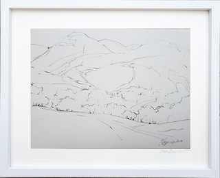 Buttermere Drawing 4 2018 ink on paper 40x30cms