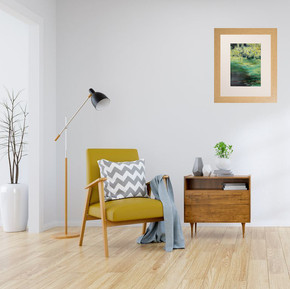 """""""Broomhill Pond 2 colour study  in a room"""