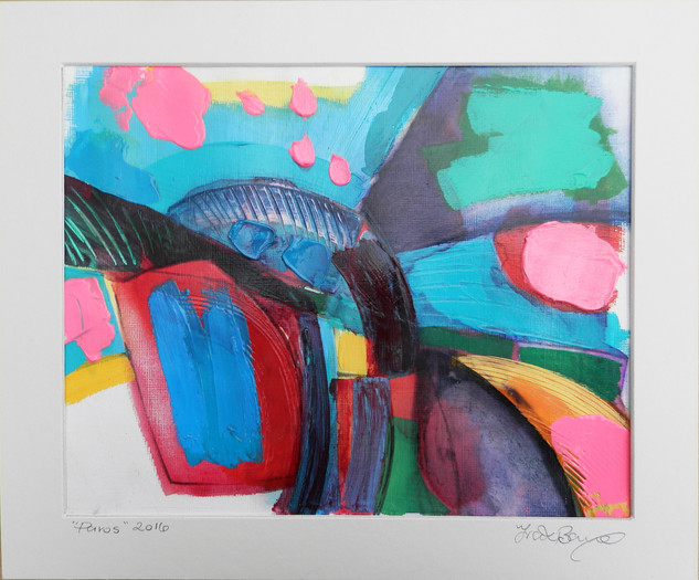 Paros 2016 acrylic on canvas 25x20cms paper