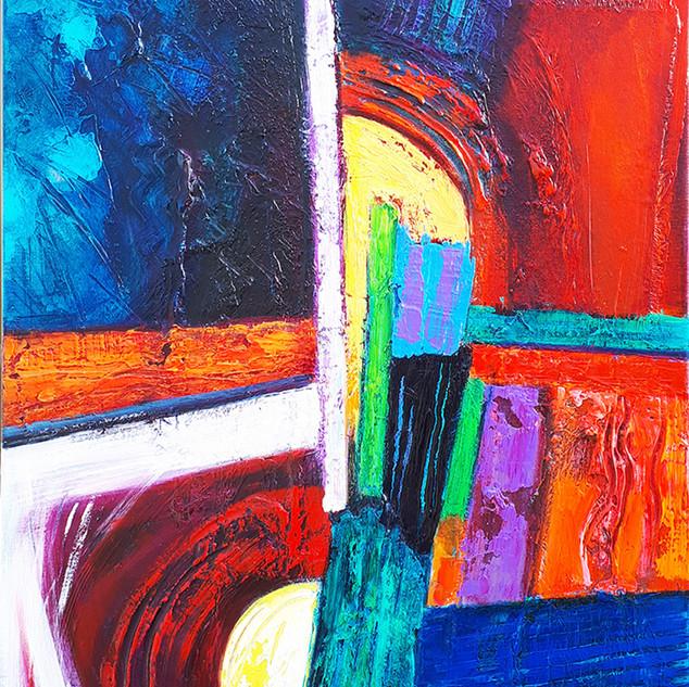 Amandla 51x77cms acrylic on canvas
