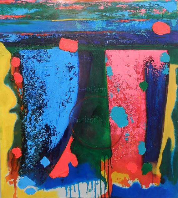 Sentient Horizon 2015 acrylic on canvas 100x120cms