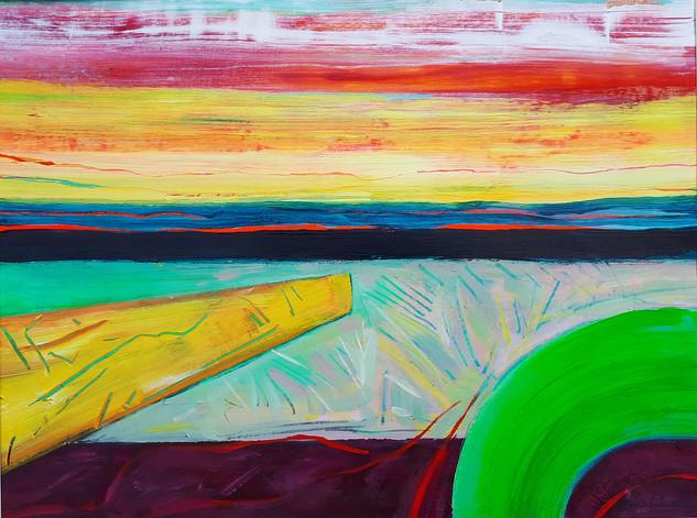 Sand Rainbow 2019 acrylic on canvas paper 30x40cms