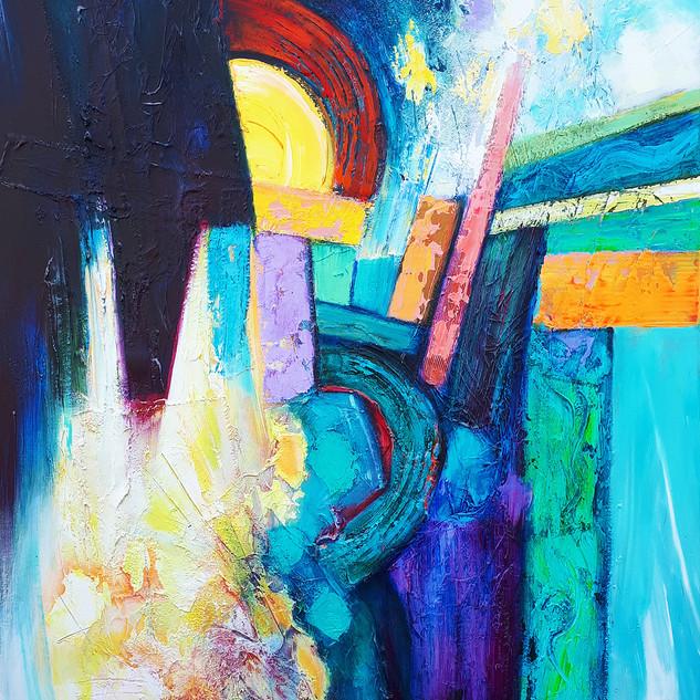Maiysha 91x122cms Acrylic on canvas
