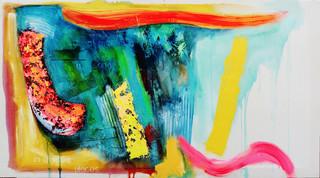 Lark of Mithymna 2017 acrylic on canvas136x75cms