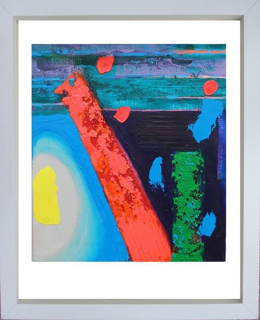 Powder Mountains 2015 acrylic on canvas 60x55cms