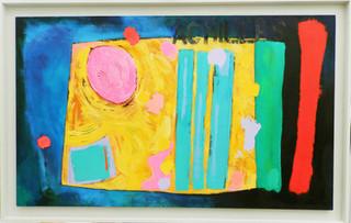 Achilles 2014 acrylic on canvas 165x105cms