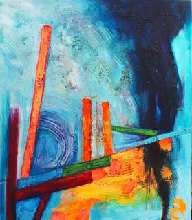 Solea 89x102cms acrylic on canvas nva