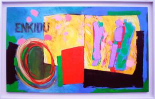 Enkidu   2014 acrylic on canvas 165x105cms
