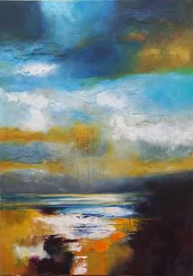 Rainy Day Dream Away 100x70cms acrylic on canvas