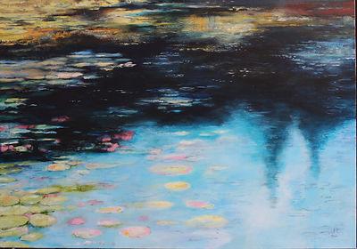 Melkinthorpe Pond 1  acrylic on canvas 1