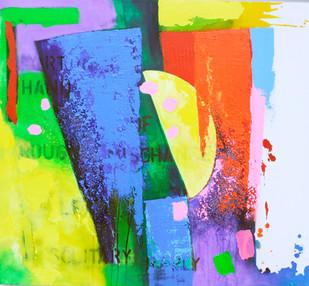 ROUGH MISCHANCE 2015 acrylic on canvas 120x100cms