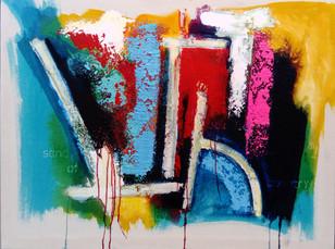 Shaman 2017 77x102cms acrylic on canvas