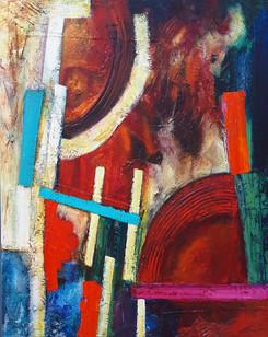 Catembe - acrylic and mixed media on canvas 92x115cms