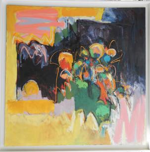 Oila  oil on canvas 120x120cms