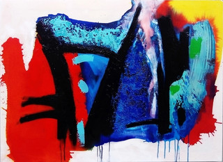 Pangaea - Zimbabwe  2017 acrylic on canvas 102x77cms