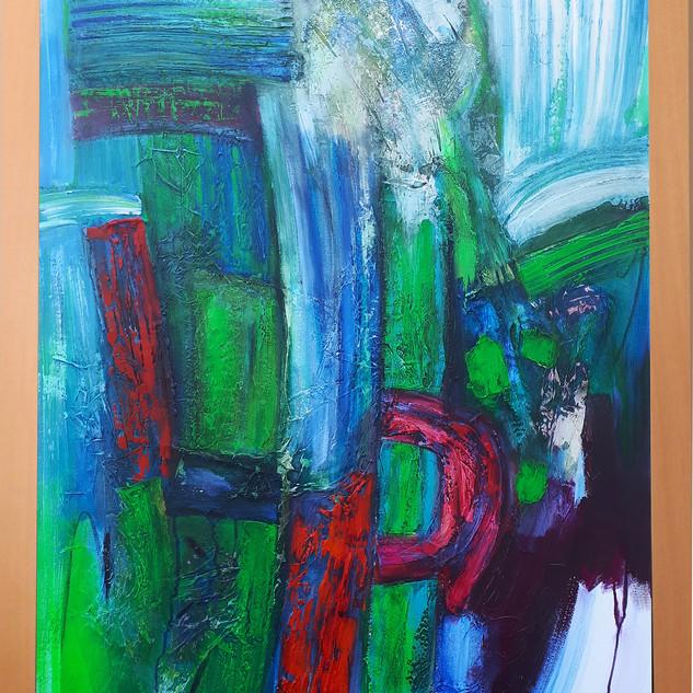 Wind Ridge 76cms w x 102cms h acrylic on canvas