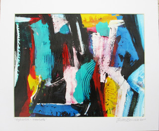 Agharta - Interlude 2017 acrylic on canvas paper 24.5x19.5cms