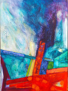 Saeta 77x102cms acrylic on canvas